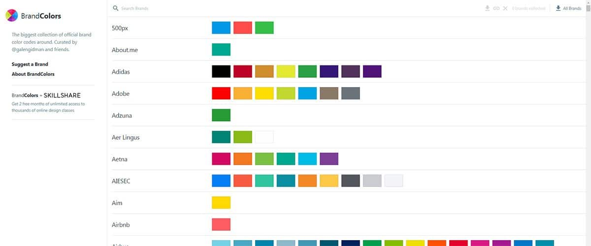 Brand Colors – The biggest collection of official brand color codes