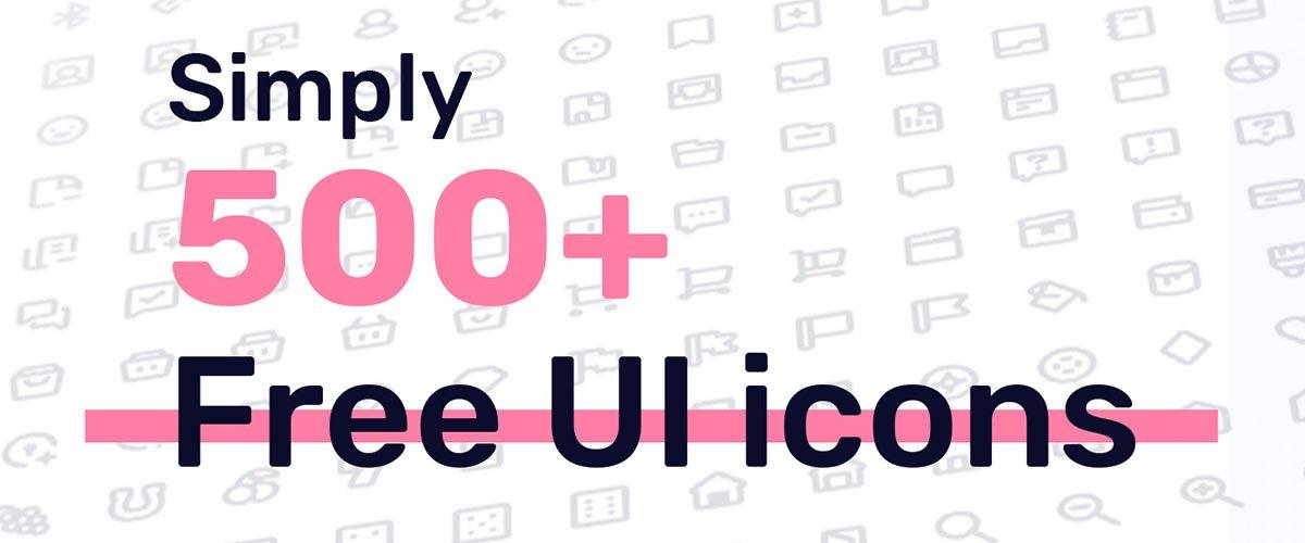 500+ Free UI Icons