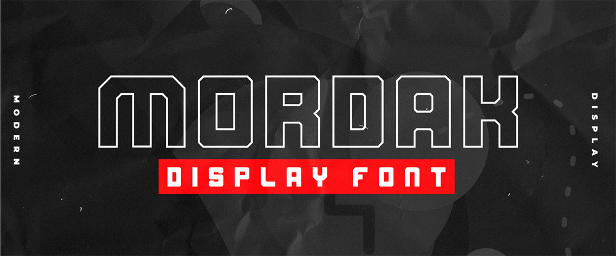 Mordak – Free geometric display font