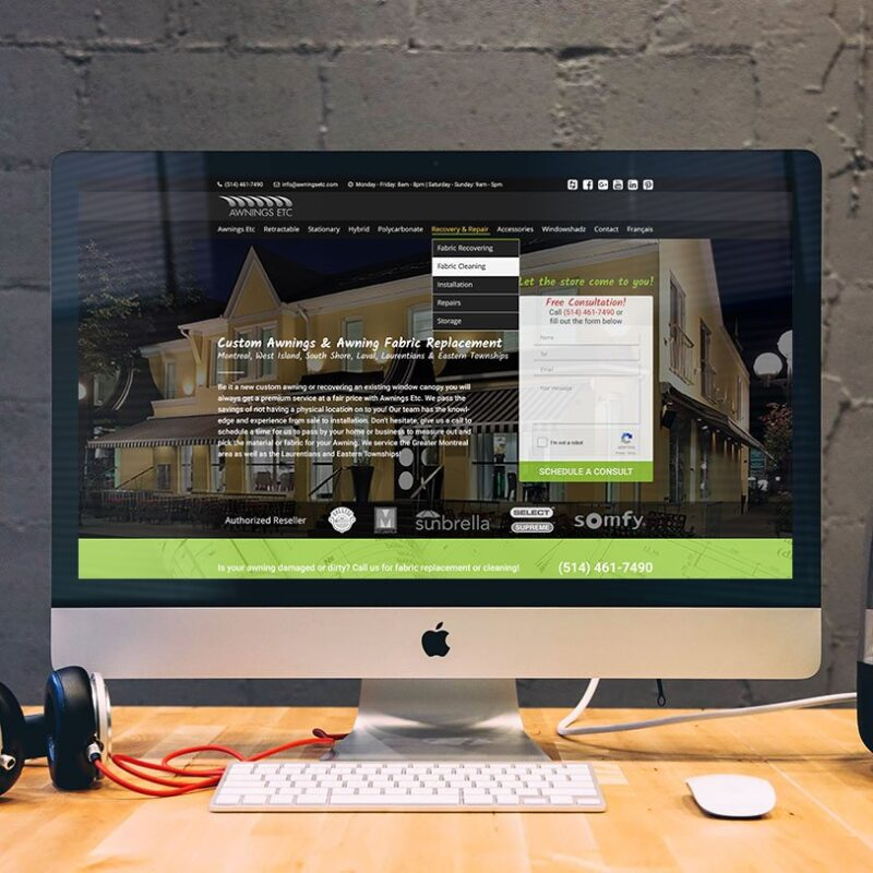 Awnings Etc. – Website Design