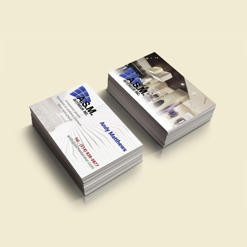 ASM Interior – Business Card Design