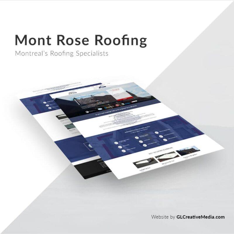 Mont Rose Roofing – Website Development